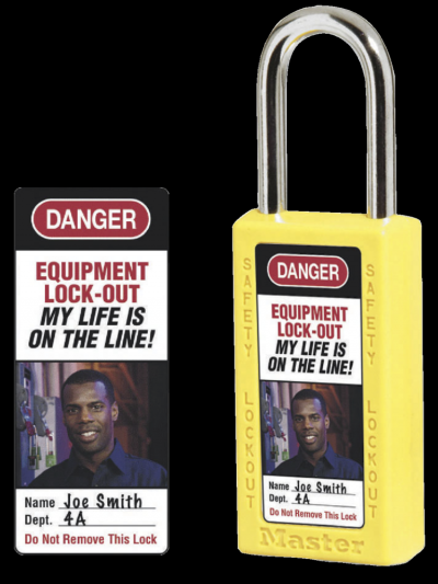 Photo Identification Labels for 411 Safety Padlocks