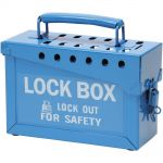 Blue Brady Group Lockout Box
