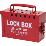 Red Brady Group Lockout Box