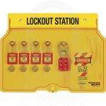 Lockout Tagout Station With Cover 4 Padlock Capacity