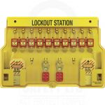 Lockout Tagout Station With Cover 10 Padlock Capacity