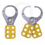 Large Steel Lockout Hasp Yellow