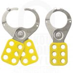 Large Yellow Steel Safety Hasp