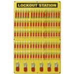 Custom Lockout Tagout Board 90 Padlock Capacity