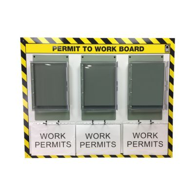 Double Sided Permit Holder Station