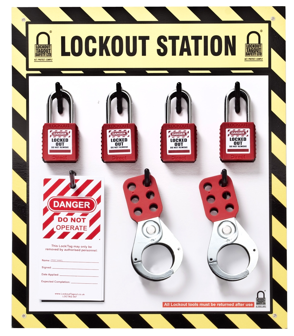 Lockout-Tagout.co.uk: Lockout Tagout Station