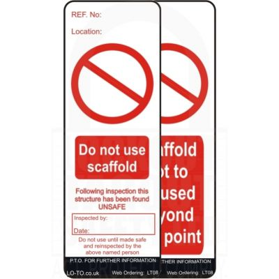 Scaffold Tag Prohibition Inserts