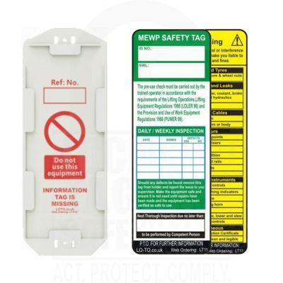 MEWP Safety Tag Kit