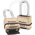 Masterlock Brass Pro Series Resettable Combination Padlock Long Shackle