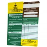 Scafftag Inserts Pack of 50 Brown Special Purpose