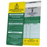 Scafftag Inserts Pack of 50 Grey Very Light Duty